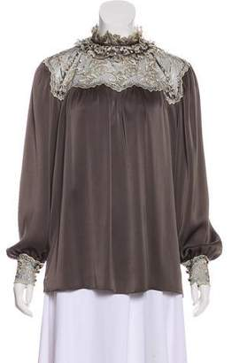 Ted Lapidus Lace Accented Top