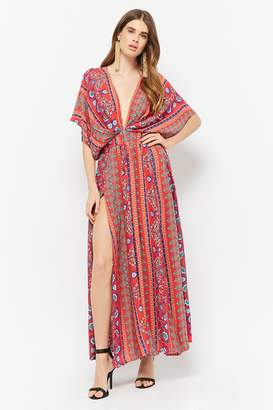 Forever 21 Selfie Leslie Abstract Billowy Maxi Dress