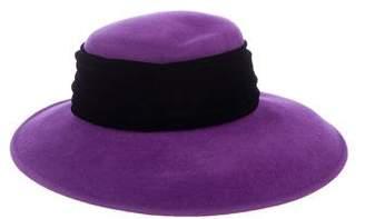 Eric Javits Velvet-Trimmed Felt Hat