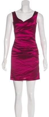 Talbot Runhof Sleeveless Silk-Blend Dress
