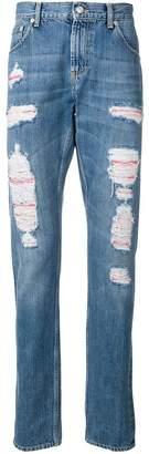 Alexander McQueen distressed layer jeans