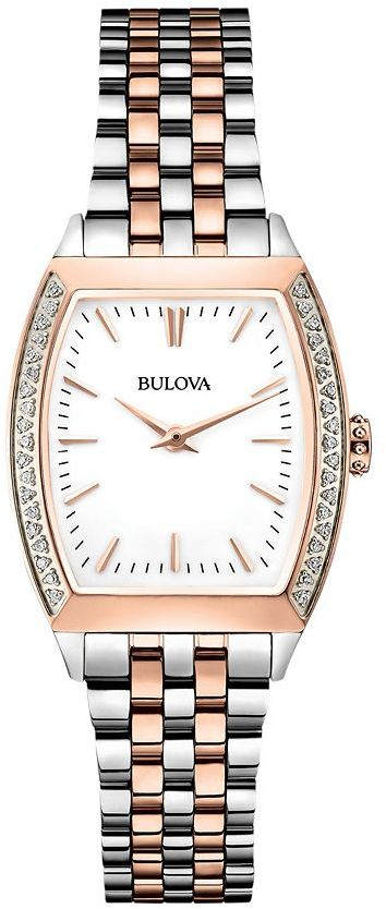 Bulova watch - women's two-tone stainless steel - 98r200