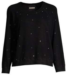 Monrow Rhinestone Sweatshirt