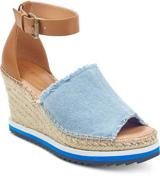Tommy Hilfiger Yavino Espadrille Platform Wedge Sandals Women's Shoes