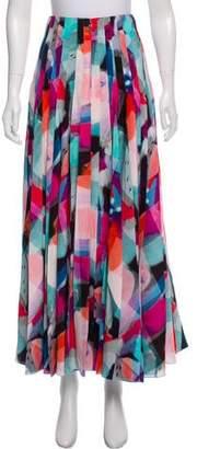 Chanel 2016 Silk Maxi Skirt