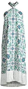 Riviera Mestiza New York Women's Pamplona Embroidered Crepe Tile Dress