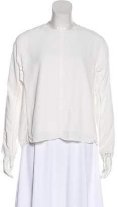 Alexander Wang Cutout Long Sleeve Blouse