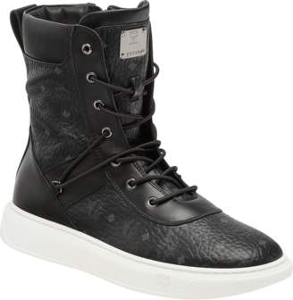MCM Men's Lace Up Boots In Visetos