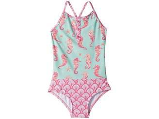 a0a104182f580 Hatley Fantastical Seahorses Color Block Swimsuit (Toddler Little Kids Big  Kids)