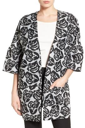 EMERSON ROSE Floral Jacquard Topper $149 thestylecure.com