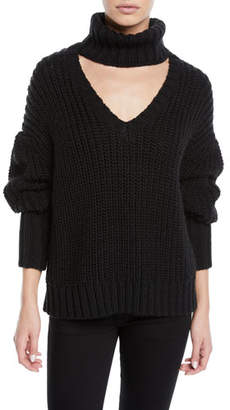 Cinq à Sept Adia Turtleneck Cutout Sweater