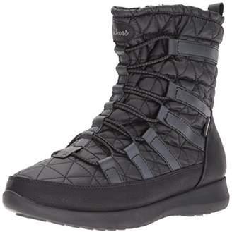 Skechers Women's Boulder-East Stone Snow Boots, (Black Blk), 3 (36 EU)
