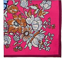 Barneys New York Men's Butterfly-Print Silk Pocket Square - Pink