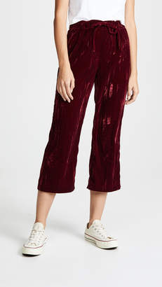 BB Dakota Jog In My Memory Pleated Velvet Pants