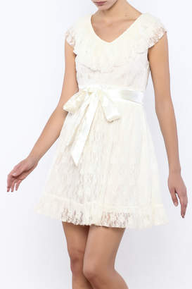 Moon Collection Lace Belted Dress