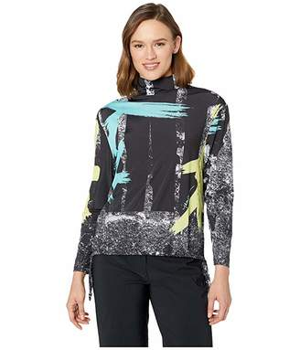 Jamie Sadock Sunsense(r) 50 UVP Adjustable Front Draw Cord Long Sleeve Top with Comic Print