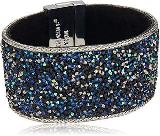 Kenneth Cole New York Shiny Silver Items Silver Statement with Tonal Sprinkle Stone Bracelet