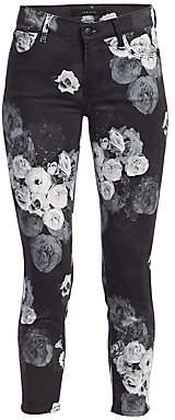 J Brand Women's 835 Mid-Rise Floral Crop Skinny Jeans