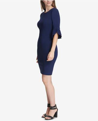 DKNY Triple Ruffle-Sleeve Dress