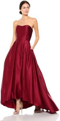 Betsy & Adam Women's Strapless Ball Gown