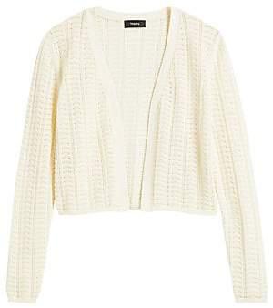Theory Women's Crochet Cotton-Blend Cardigan