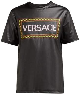 Versace Logo Print T Shirt - Womens - Black Multi