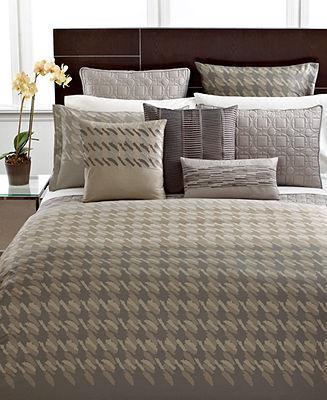 Hotel Collection CLOSEOUT! Bedding, Modern Houndstooth European Sham