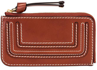 Chloé Medium Marcie Wallet with Slot Cards in Sepia Brown   FWRD