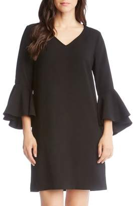 Karen Kane Bell Sleeve Shift Dress