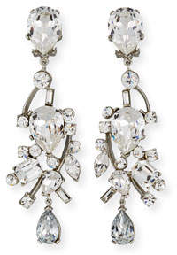 Jose & Maria Barrera Mixed-Cut Crystal Clip-On Earrings
