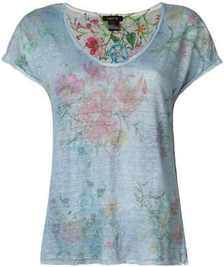 Avant Toi reversible floral print T-shirt