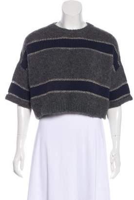 Brunello Cucinelli Wool Blend Knit Crop Top