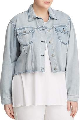 Glamorous CURVY Vintage Cropped Denim Jacket