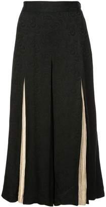 Jill Stuart floral jacquard cropped trousers