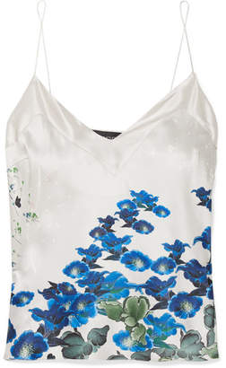 MENG - Printed Silk-satin Camisole - Blue