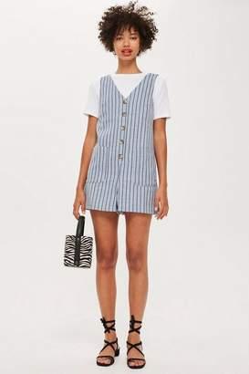 Topshop Womens Petite Stripe Romper