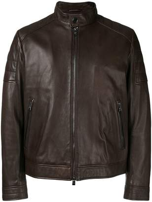 HUGO BOSS fitted biker jacket