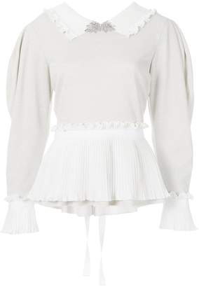 Parlor pleated-hem fitted shirt