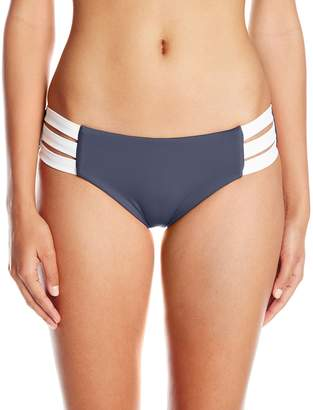Seafolly Women's Block Party Multi Strap Bikini Bottom Swimsuit