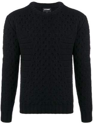 Les Hommes eyelet knitted sweater