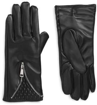 The Accessory Collective Accessory Collective Quilted Zipper Gloves