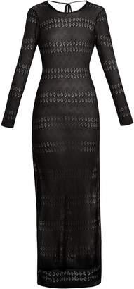 Melissa Odabash Melissa scoop-back pointelle-knit maxi dress