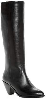 Frye Women's Lila Leather Slouch High-Heel Boots