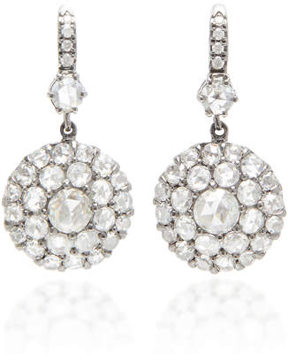 Nam Cho Rhodium-Plated 18K White Gold and Diamond Earrings