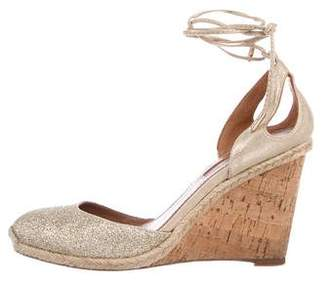 dff7bd8bd749 Pre-Owned at TheRealReal Aquazzura Palm Beach Glitter Wedges