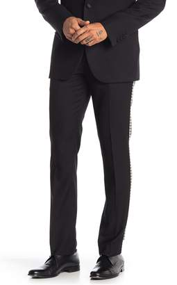 Paisley & Gray Houndstooth Racer Stripe Flat Front Pants - 30-34 Inseam