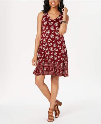 Style&Co. Style & Co Petite Floral-Print Crisscross Dress