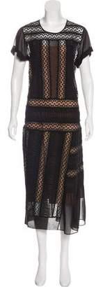 No.21 No. 21 Lace-Trimmed Silk Dress