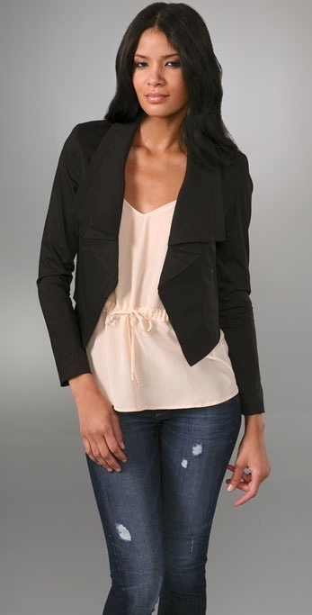 Adam Cropped Blazer with Flounce Collar