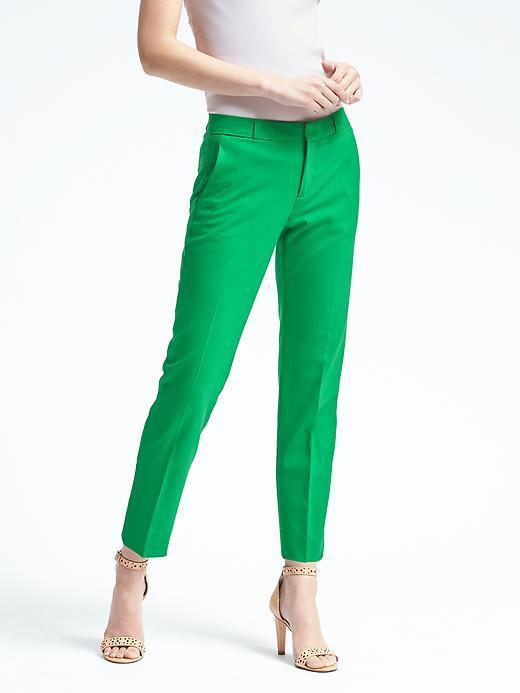 Avery-Fit Green Lightweight Wool Pant